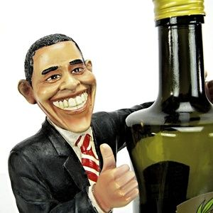 "Other - President Obama 11.5"" Wine Bottle Caddy Holder"